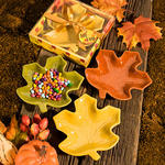 Autumn Magic Collection Leaf Candy Dish