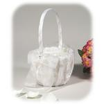 Silver Leaf Flower Girl Basket