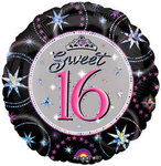 18 Sweet 16 Prismatic Sparkle Mylar Balloon