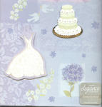 Soft Periwinkle Embellished Wedding Record Book