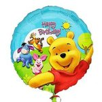 18 Happy Birthday Pooh Mylar Balloon