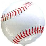 18 Baseball Mylar Balloon