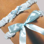 Blue Bow Tie Adjustable Bridal Garter
