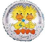 Suzys Zoo TWINS Duckie Design Mylar Balloon