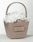 Taupe Pleated Flower Basket