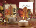 Fall Leaf TeaLight and Place Card Holder