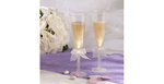 Frosted Stem Ivory Bow Toasting Flutes