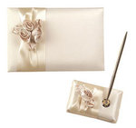 Blush Ivory Guest Book with Pen Set