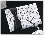 Black & White Vine Design Guest Book