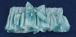 Hand-Dyed Robin's Egg Blue Silk Satin Garter