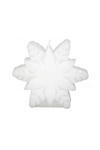 5 Stand Up Glitter Snowflake Candle