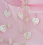 Heart Shell Beach Necklace Set