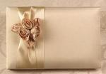 Blush Ivory Satin Guest Book
