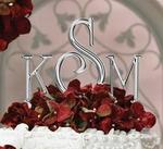 Silver Monogram Cake Top Letters - 2 Sizes!