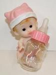 Resin Baby with Fillable Bottle Favor