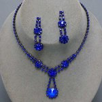 Drop of Love Rhinestone Necklace Set - 5 Colors!