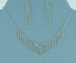 Gillian Rhinestone Drop Necklace Set
