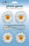 Sticky Pix Daisies Self Adhesive Accents
