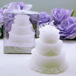 3.5 White Wedding Candle Favor