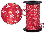 Red Snowflake & Star Curling Ribbon - 250 Yards