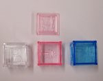 1.25 Transparent Plastic Baby Blocks - Pkg of 12 - 3 Colors!