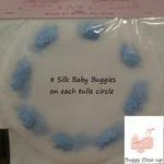 9 Tulle Circle with Baby Buggy Applique - Pkg 10 - 2 Colors!
