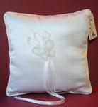 Silver Thread Butterfly Ring Pillow