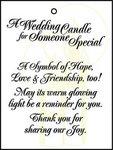 Candle Favor Cards Pkg 25