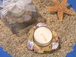 Beach Shells and Starfish Candle Holder