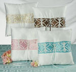 Contemporary Charm Ring Pillow - 4 Colors!