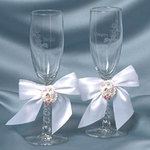 Dreamsicles Wedding Toasting Glasses