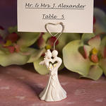 Enchanting Bride and Groom Design Favor Saver Place Card Holder