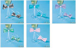 Satin Bow Toasting Flutes - 7 Color Choices!