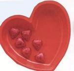 Red Heart Shape Plastic Bowl
