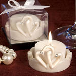 Interlocking Hearts Design Favor Saver Candle