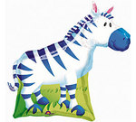 30 Inch Jungle Party Zebra Balloon