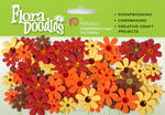 Fall/Autumn Tone Petaloo Flora Doodles - Pkg 80
