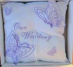 Our Wedding Satin Butterfly Ring Pillow - Colors!