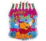 Pooh 23 inch Birthday Cake Balloon
