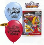 Power Rangers Ninja Storm Latex Balloons Pkg 6