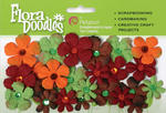 Fall/Autumn Flora Doodles Tye Dyed Gypsies - Pkg 28