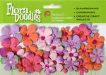 Pinks/Lavenders Flora Doodles Tye Dyed Gypsies - Pkg 28