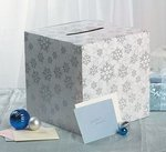 Winter Snowflake Wedding Card Box