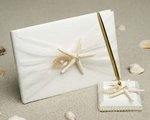 Starfish & Shell Beach Wedding Guest Book