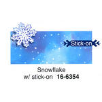 Glitter Snowflake Place Cards - Pkg 12