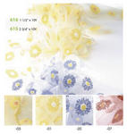 1 1/2 Daisy Print Sheer Ribbon - 10 Yards - Colors!
