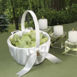 Touch of Gold Flower Girl Basket