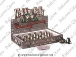 Metal Wedding Bells Pkg 24 - 3 Colors!