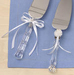 Lacy Daisy Cake Knife Set - White or Ivory